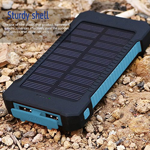 Solar-Charger-Matone-Portable-10000mAh-Solar-Battery-Charger-Shockproof-Dual-USB-output-Solar-Powered-Phone-Charger-for-iPhone-iPod-iPad-Samsung-HTC-GPS-Gopro-Camera-Blue-0-5