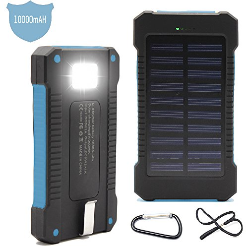 Solar-Charger-Matone-Portable-10000mAh-Solar-Battery-Charger-Shockproof-Dual-USB-output-Solar-Powered-Phone-Charger-for-iPhone-iPod-iPad-Samsung-HTC-GPS-Gopro-Camera-Blue-0