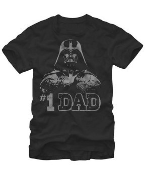Star Wars #1 Dad Darth Vader Father's Day T-Shirt - Black_ Clothing