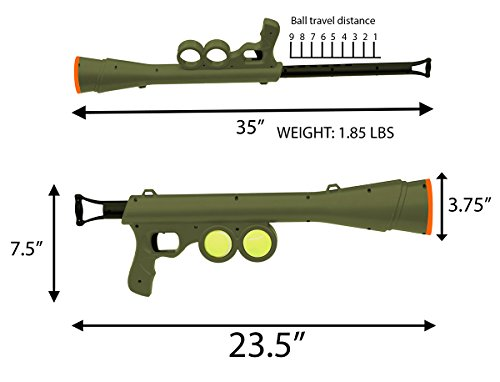 BazooK-9-Tennis-Ball-Launcher-Gun-Rated-Best-Dog-Toy-Includes-2-Squeaky-Balls-for-a-Bazooka-Semi-Automatic-Blast-0-2