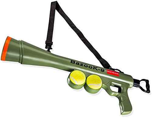 BazooK-9-Tennis-Ball-Launcher-Gun-Rated-Best-Dog-Toy-Includes-2-Squeaky-Balls-for-a-Bazooka-Semi-Automatic-Blast-0-3