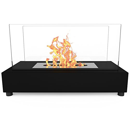 Elite-Flame-Avon-Ventless-Table-Top-Bio-Ethanol-Fireplace-Black-0-0