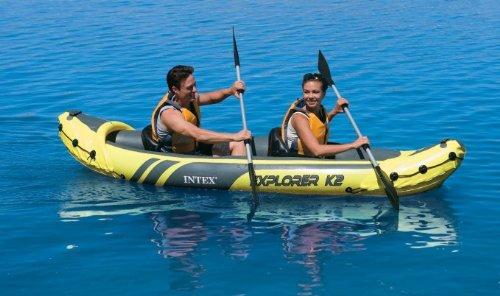 Intex-Explorer-K2-Kayak-2-Person-Inflatable-Kayak-Set-with-Aluminum-Oars-and-High-Output-Air-Pump-0-1