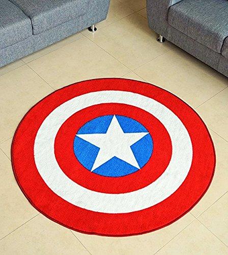 Marvel-Captain-America-Shield-Round-Rug-52in-0-0