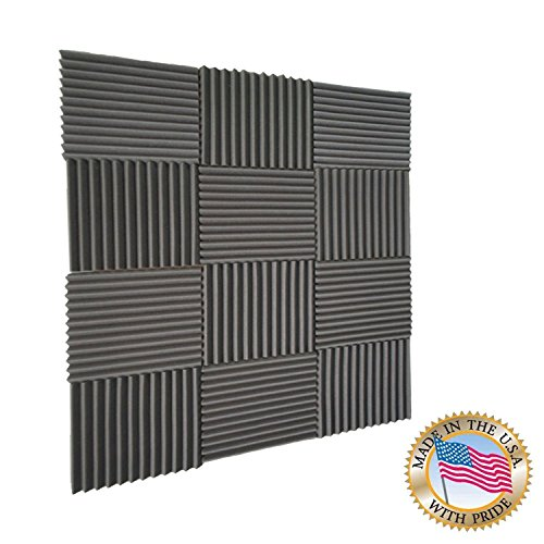 Mybecca-Acoustic-Wedge-Studio-Soundproofing-Foam-Wall-Tiles-12-by-12-Inch-12-Pack-0-1
