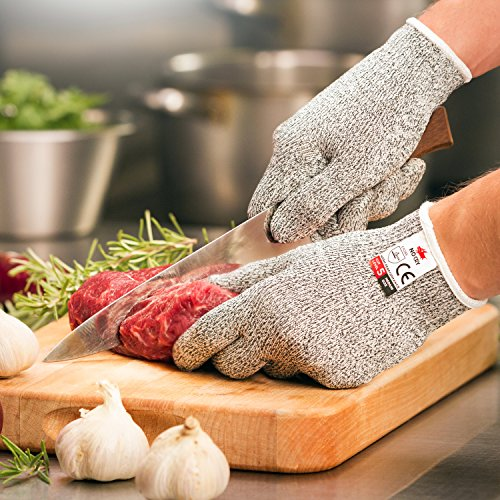 NoCry-Cut-Resistant-Gloves-High-Performance-Level-5-Protection-Food-Grade-Size-Medium-Free-Ebook-Included-0-0