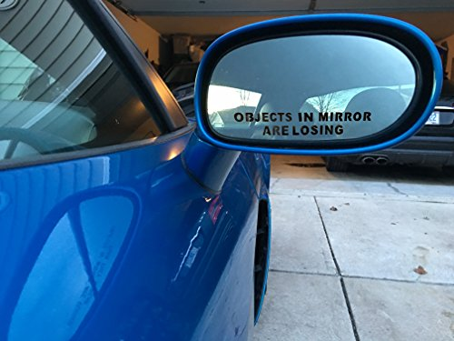 Objects-in-Mirror-are-Losing-x2-Pair-Decal-BLACK-Car-Truck-Motorcycle-0-0