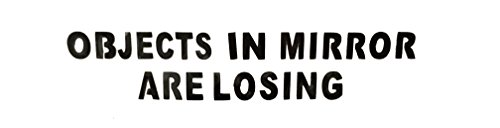 Objects-in-Mirror-are-Losing-x2-Pair-Decal-BLACK-Car-Truck-Motorcycle-0